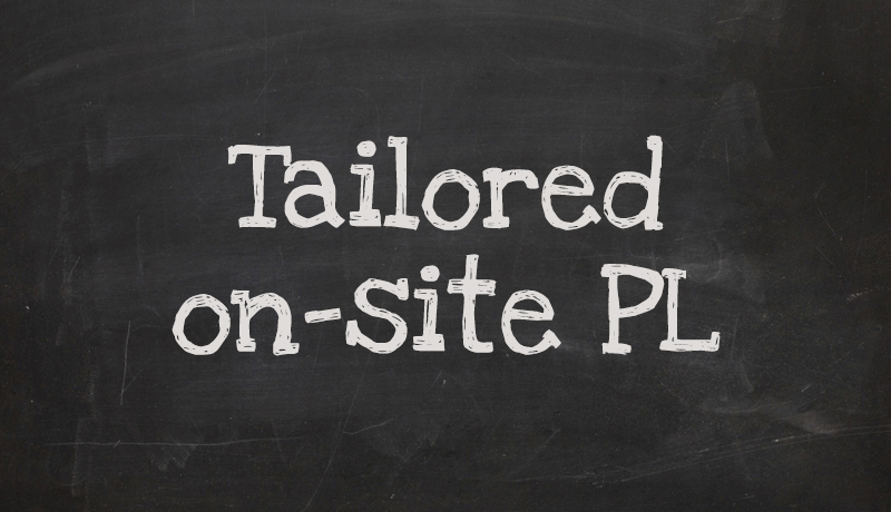 Tailored on-site professional learning, K-8