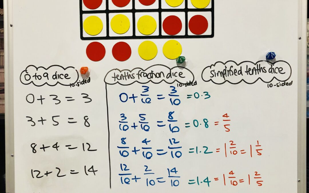 WRITTEN RECORDINGS: Teacher | Magnetic Ten-Frames With Dots for Addition