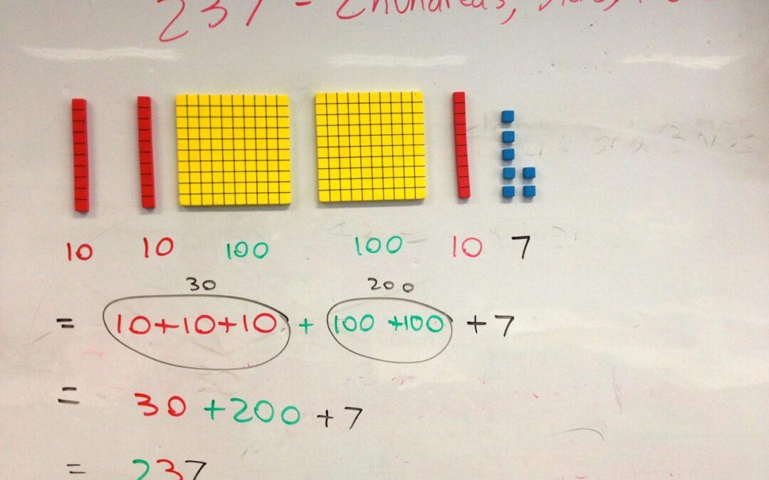WRITTEN RECORDINGS: Teacher | Using Magnetic Base 10 Blocks in Year 2