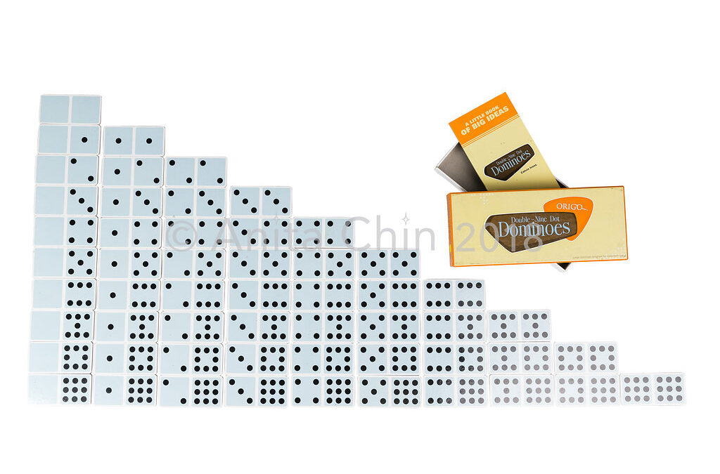 Double-Nine Dot Dominoes: One Set of 55 | Preferred product