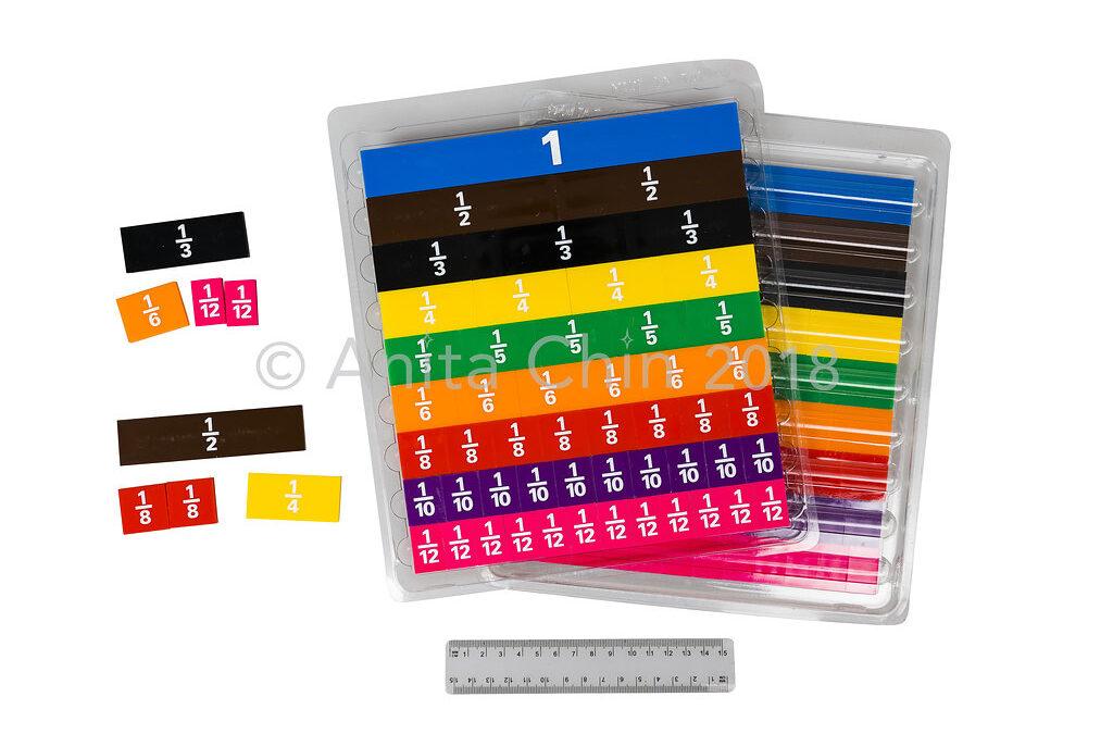 EQUIPMENT | Fraction Tiles: One Set (51 tiles in tray)
