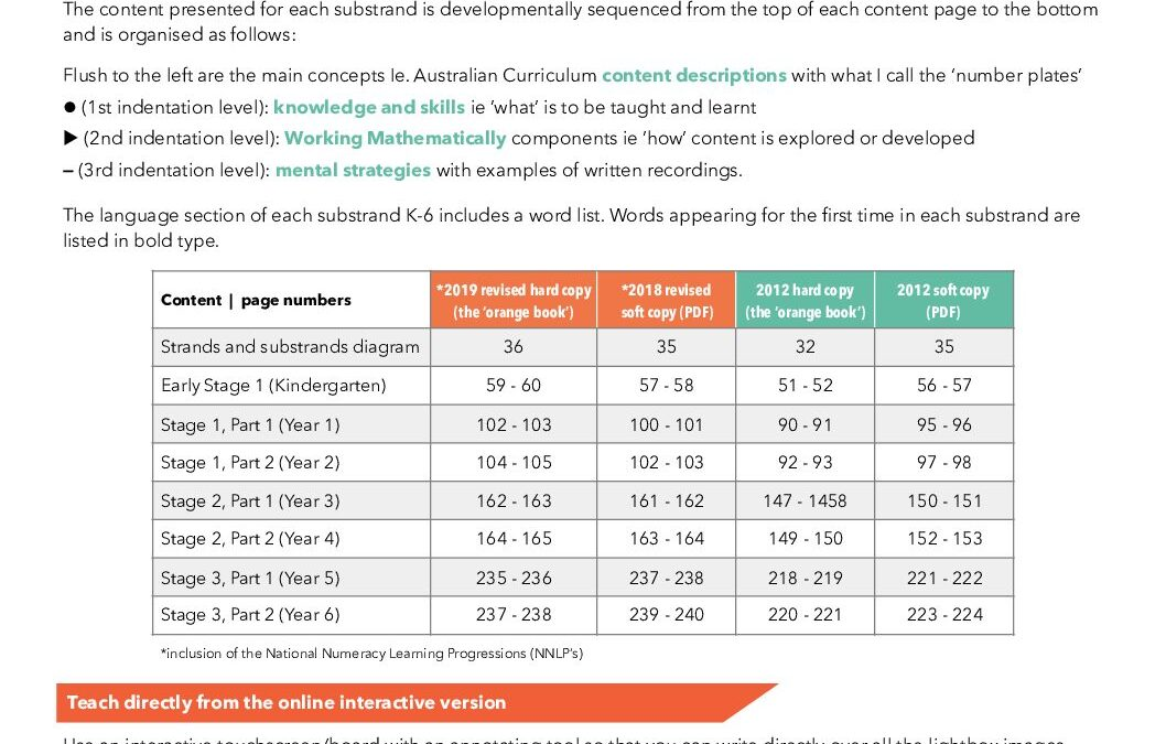 NSW Syllabus for the Australian Curriculum   Page Numbers: Length, K-6